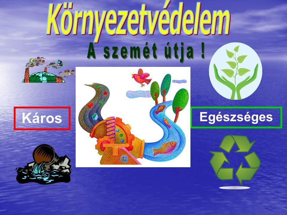Környezetvédelem A szemét útja ! Káros Egészséges