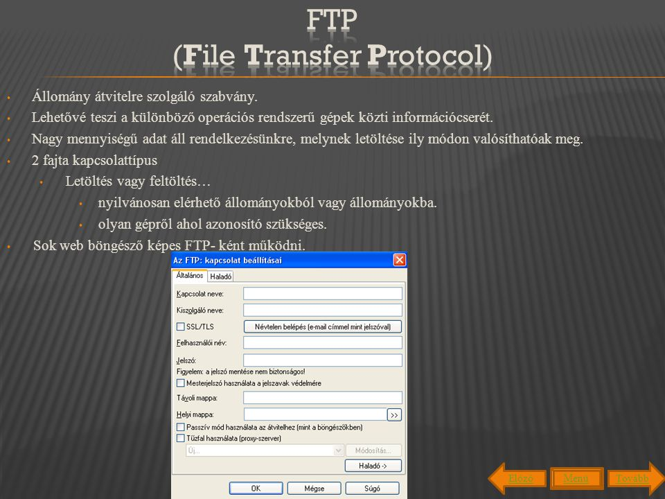 FTP (File Transfer Protocol)