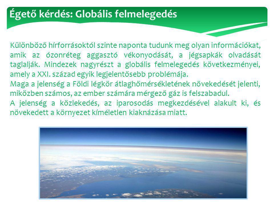 Égető kérdés: Globális felmelegedés