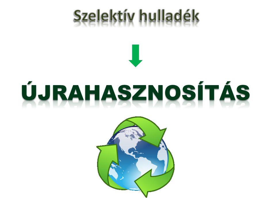 Szelektív hulladék ÚJRAHASZNOSÍTÁS