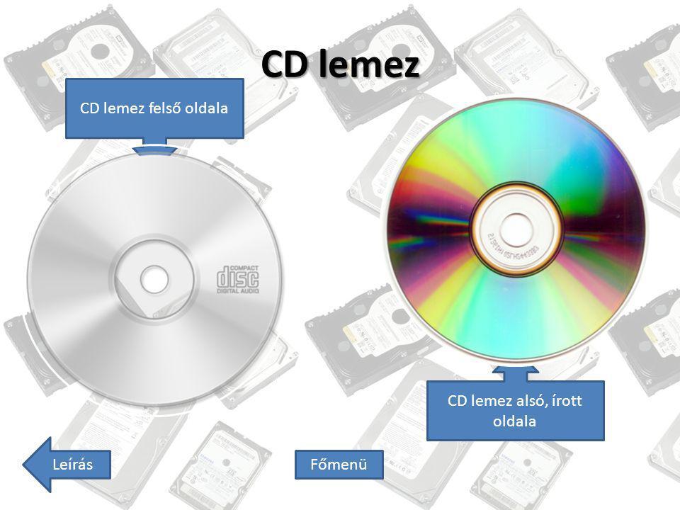 CD lemez alsó, írott oldala
