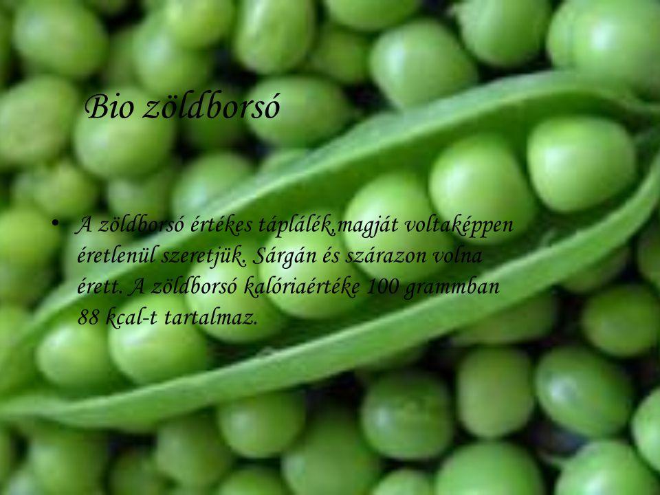 Bio zöldborsó