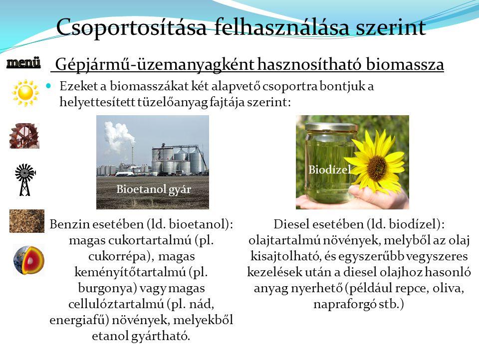 Gépjármű-üzemanyagként hasznosítható biomassza