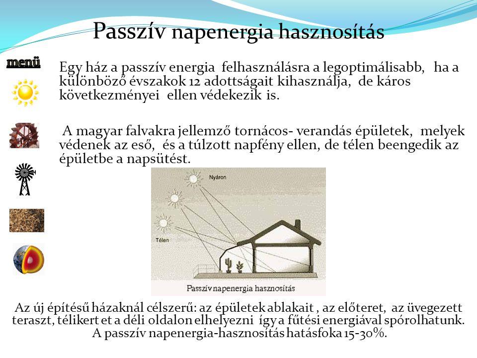 Passzív napenergia hasznosítás