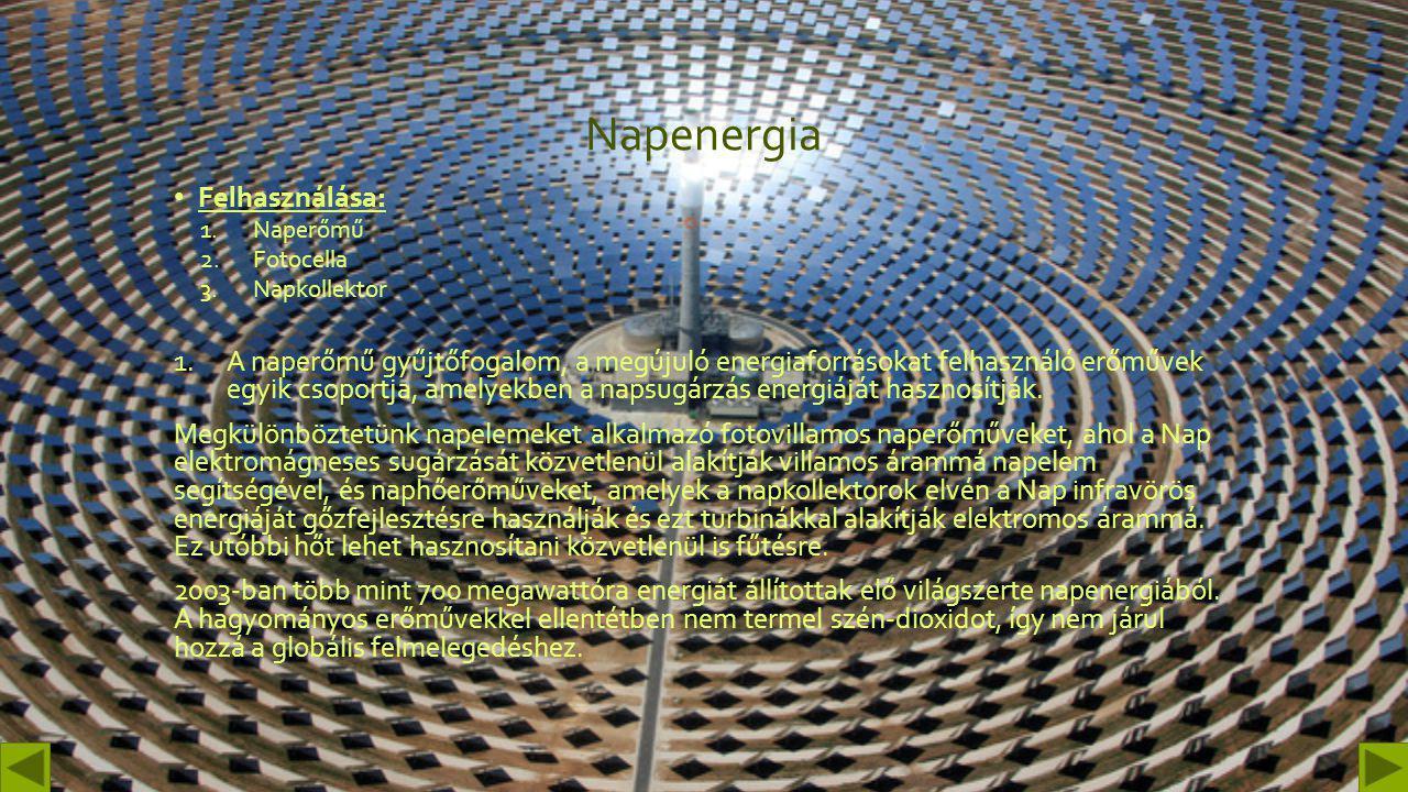 Napenergia Felhasználása: