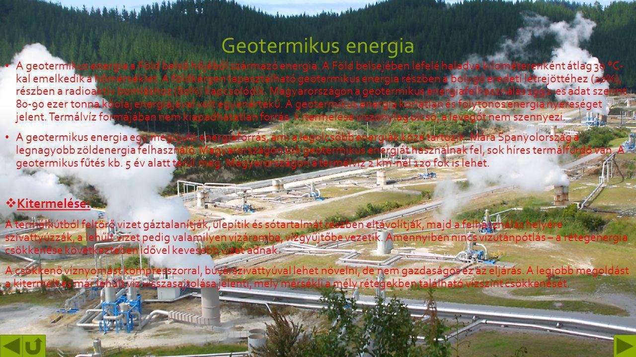Geotermikus energia Kitermelése: