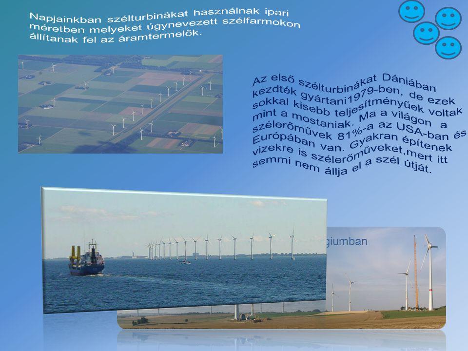 Napjainkban szélturbinákat használnak ipari méretben melyeket úgynevezett szélfarmokon állítanak fel az áramtermelők.