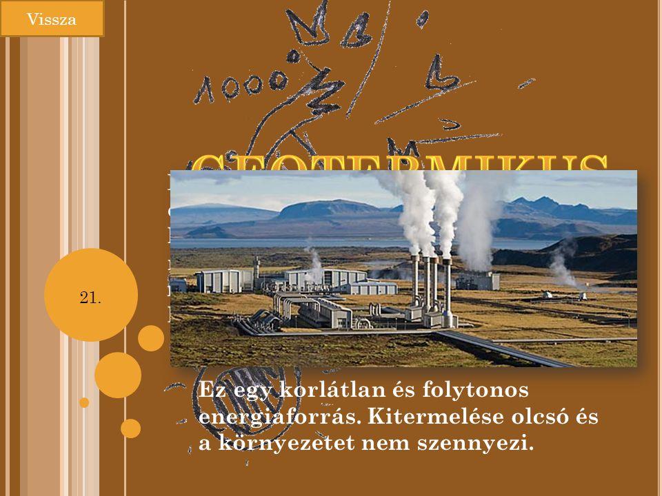 Vissza Geotermikus. energia.