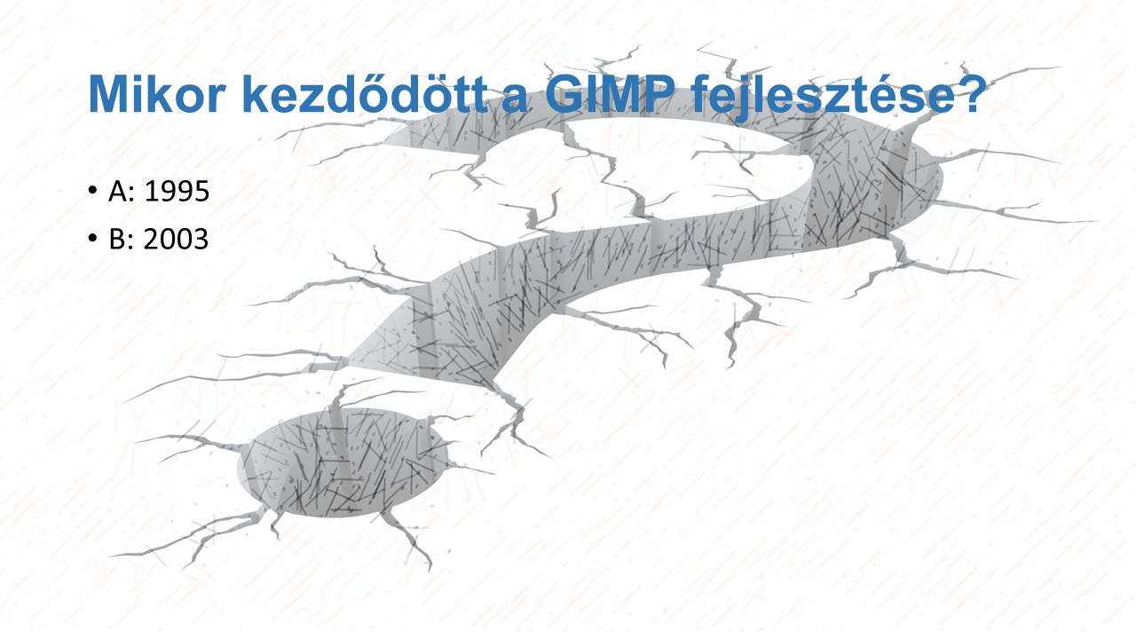 Mikor kezdődött a GIMP fejlesztése