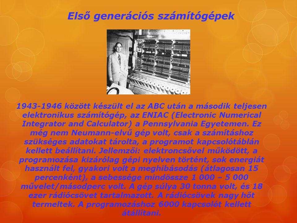 Első generációs számítógépek