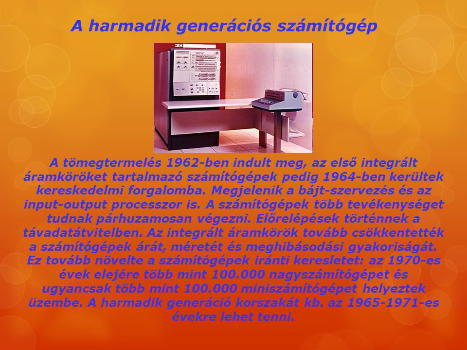 A harmadik generációs számítógép