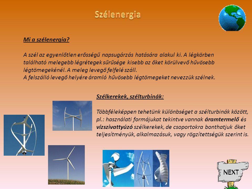 Szélenergia Mi a szélenergia