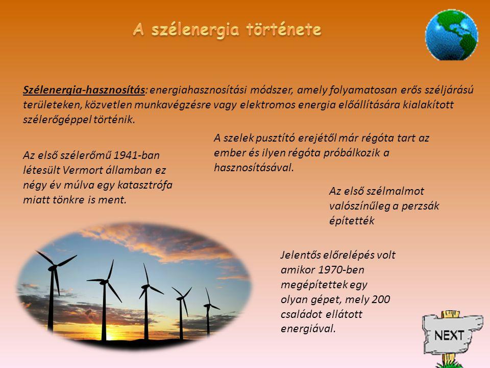 A szélenergia története