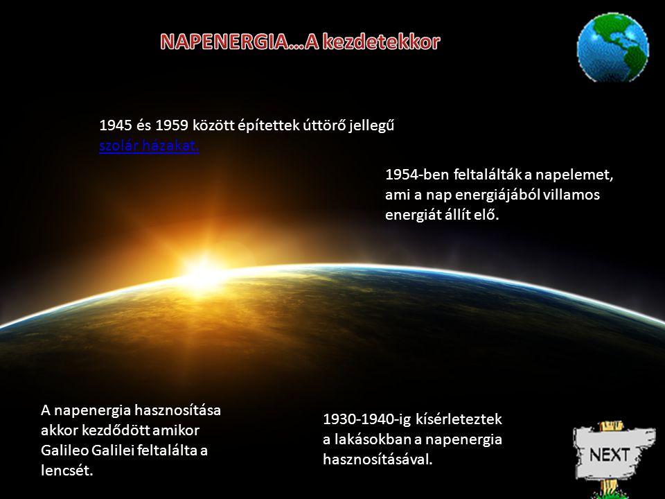 NAPENERGIA…A kezdetekkor