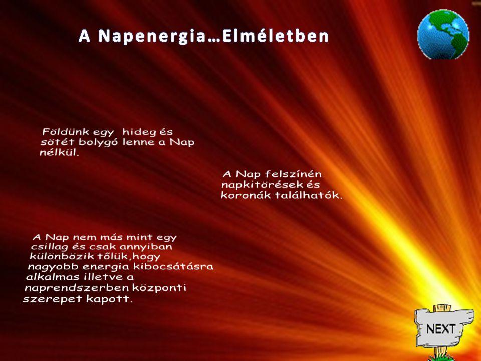 A Napenergia…Elméletben