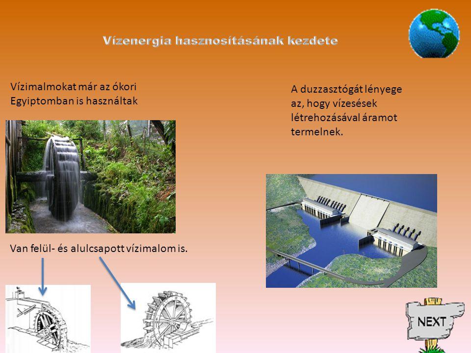 Vízenergia hasznosításának kezdete