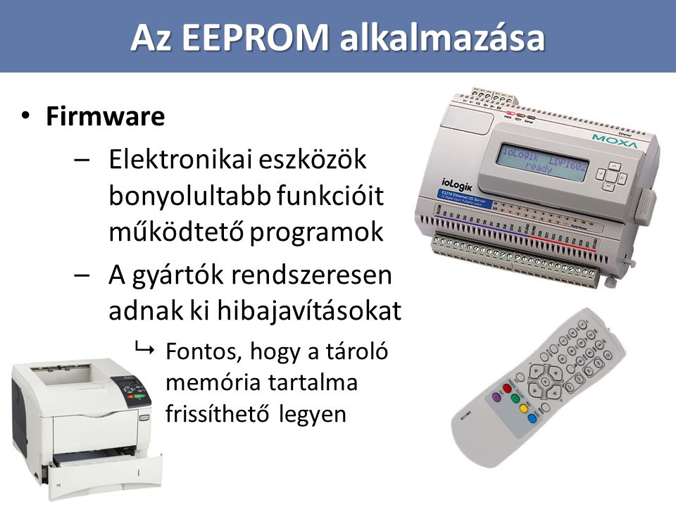 Az EEPROM alkalmazása Firmware