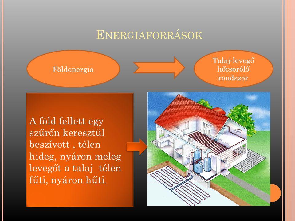 Talaj-levegő hőcserélő rendszer