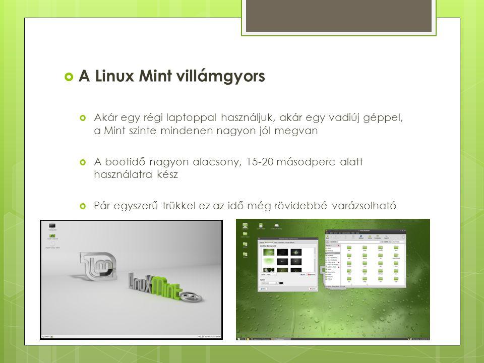 A Linux Mint villámgyors