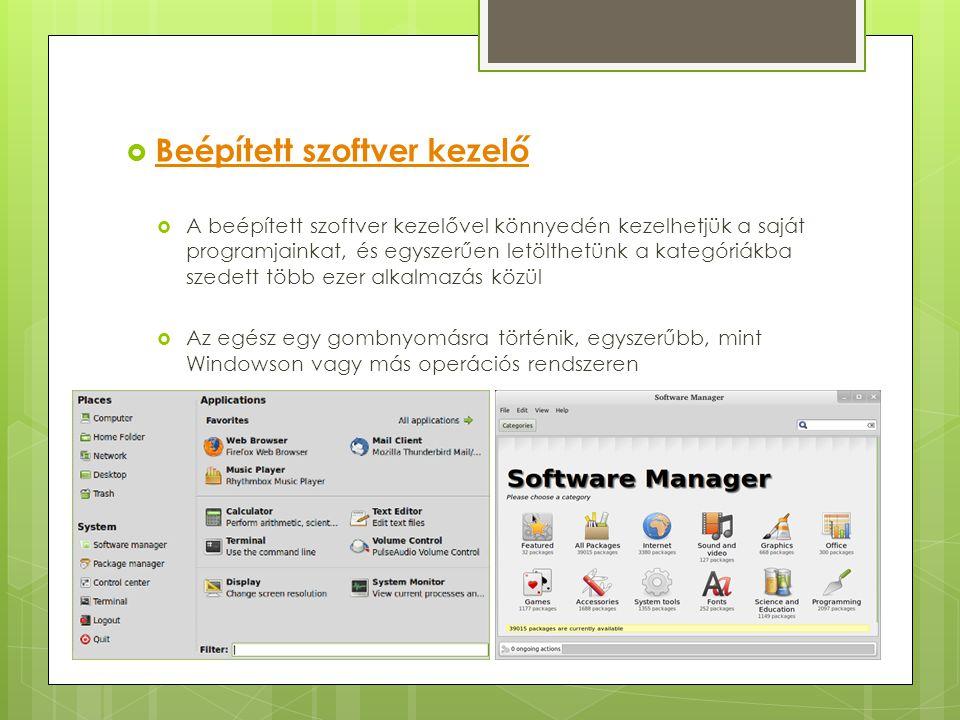 Beépített szoftver kezelő