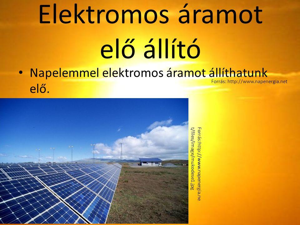 Elektromos áramot elő állító