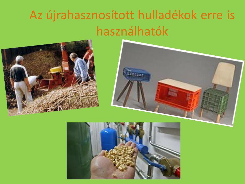 Az újrahasznosított hulladékok erre is használhatók