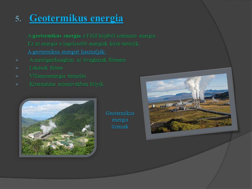 Geotermikus energia üzemek