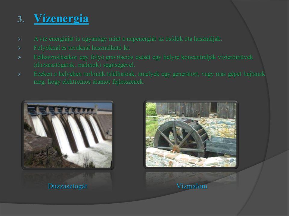 Vízenergia Duzzasztogát Vízmalom