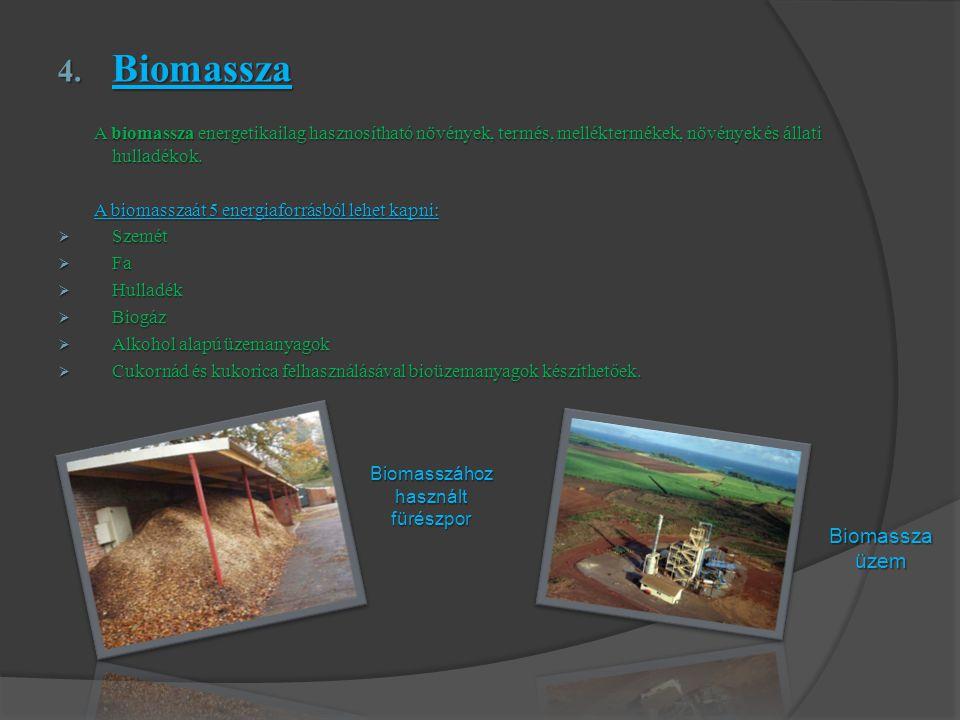 Biomasszához használt fürészpor