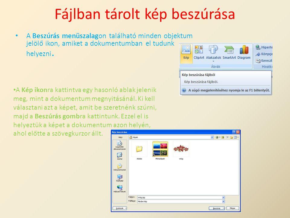 Fájlban tárolt kép beszúrása