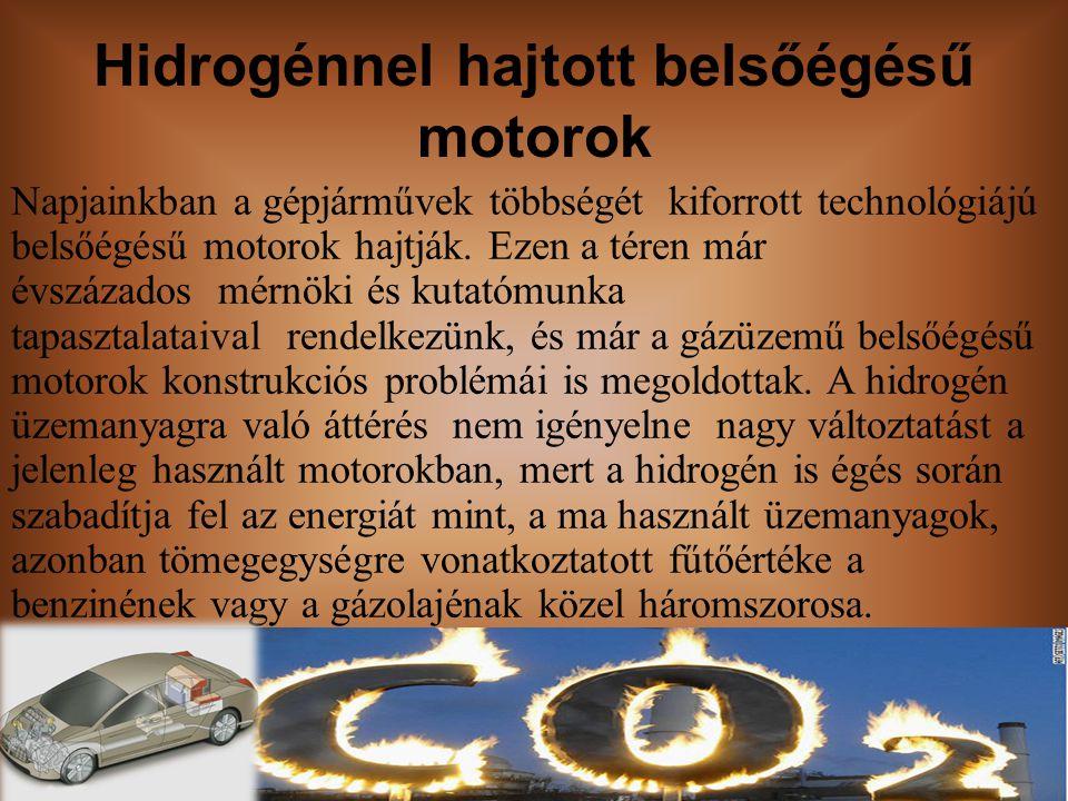 Hidrogénnel hajtott belsőégésű motorok