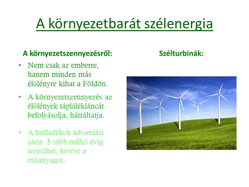 A környezetbarát szélenergia
