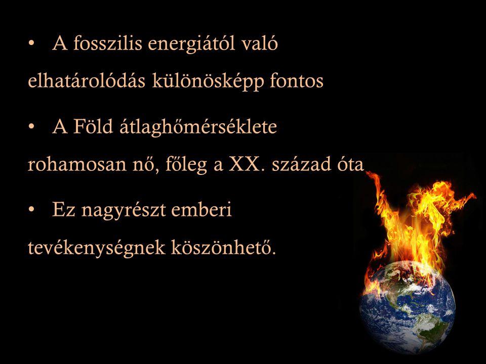 A fosszilis energiától való elhatárolódás különösképp fontos