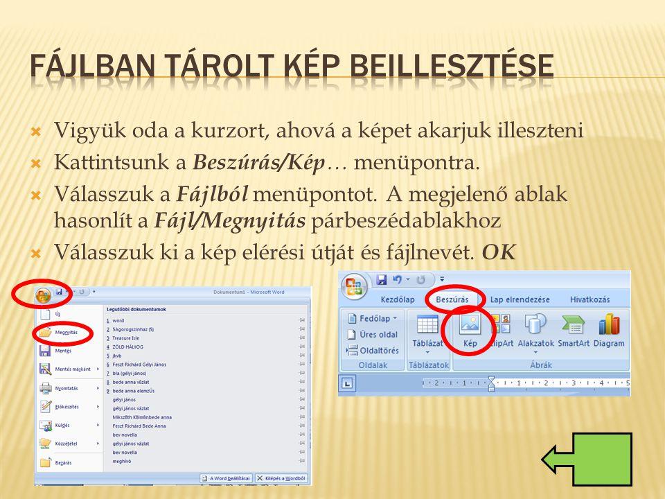 Fájlban tárolt kép beillesztése