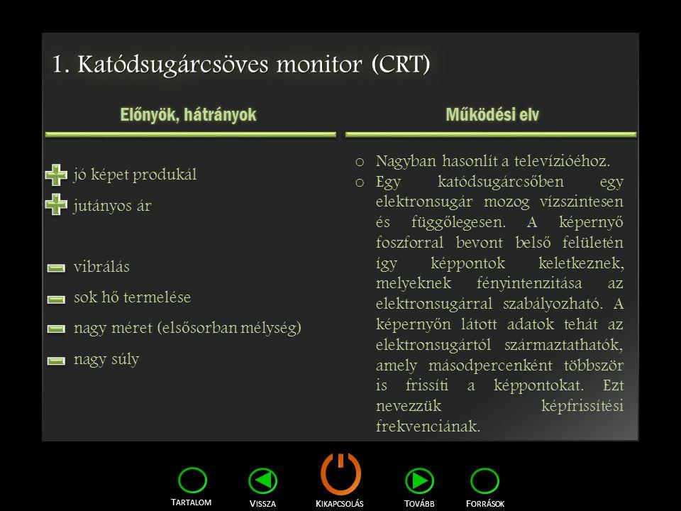 1. Katódsugárcsöves monitor (CRT)