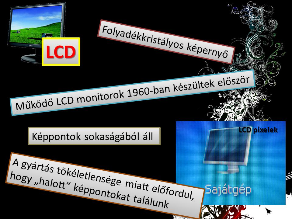 Működő LCD monitorok 1960-ban készültek először