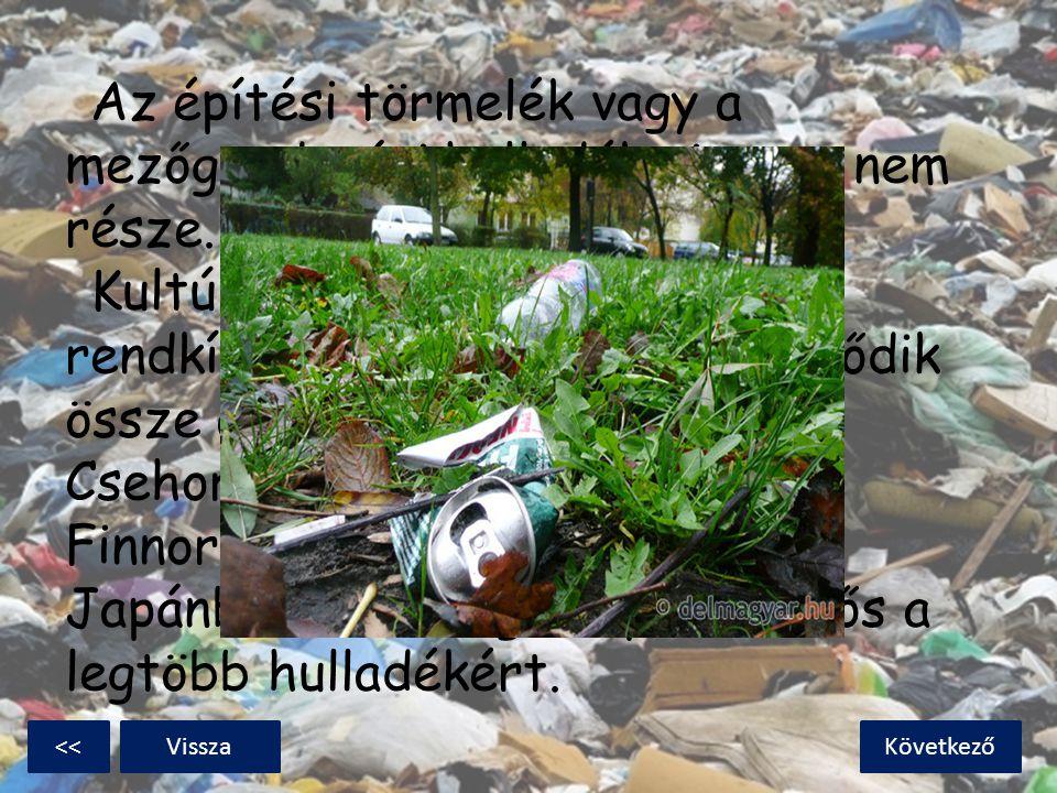 Az építési törmelék vagy a mezőgazdasági hulladék viszont nem része