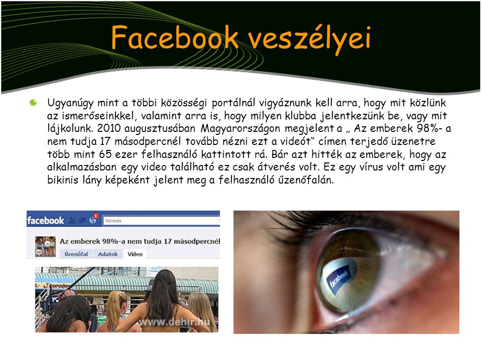 Facebook veszélyei