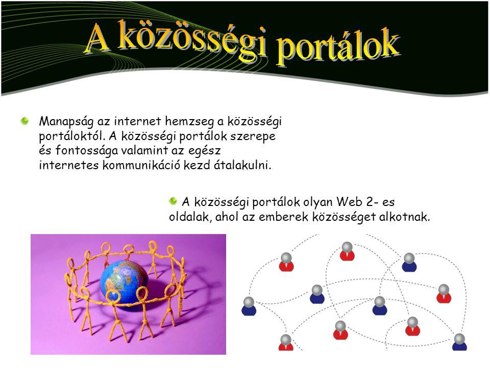 A közösségi portálok