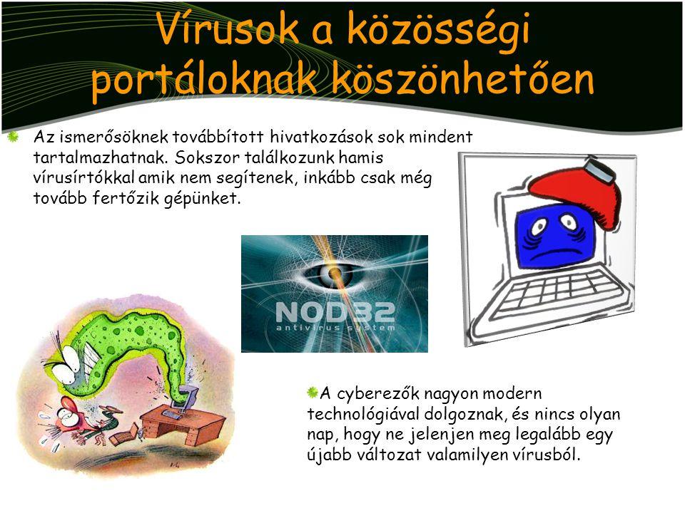 Vírusok a közösségi portáloknak köszönhetően