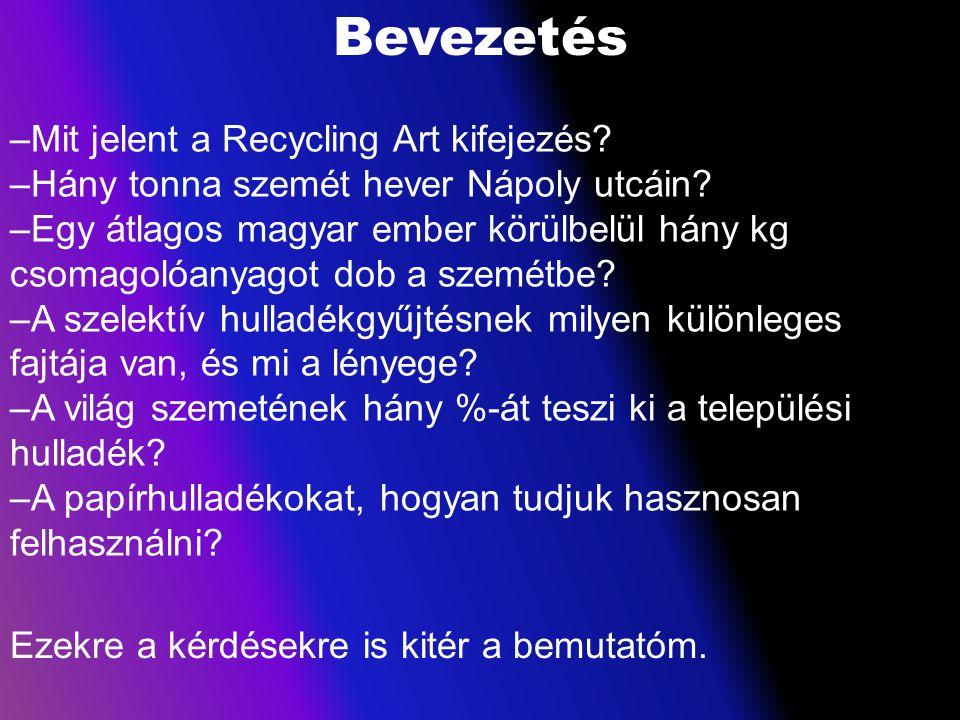 Bevezetés Mit jelent a Recycling Art kifejezés