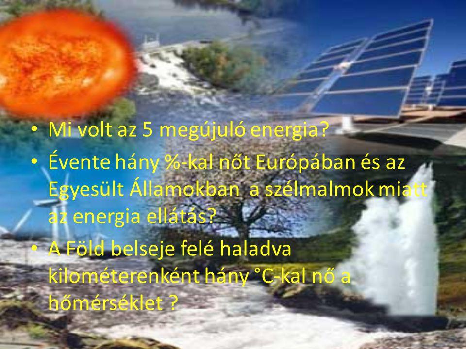 Mi volt az 5 megújuló energia