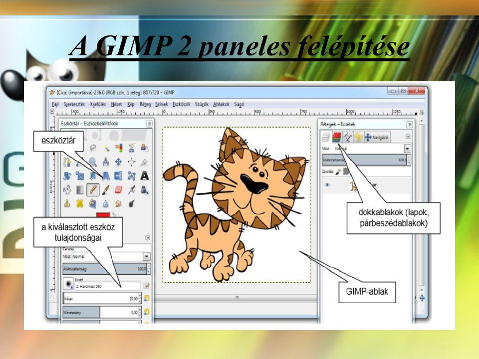 A GIMP 2 paneles felépítése