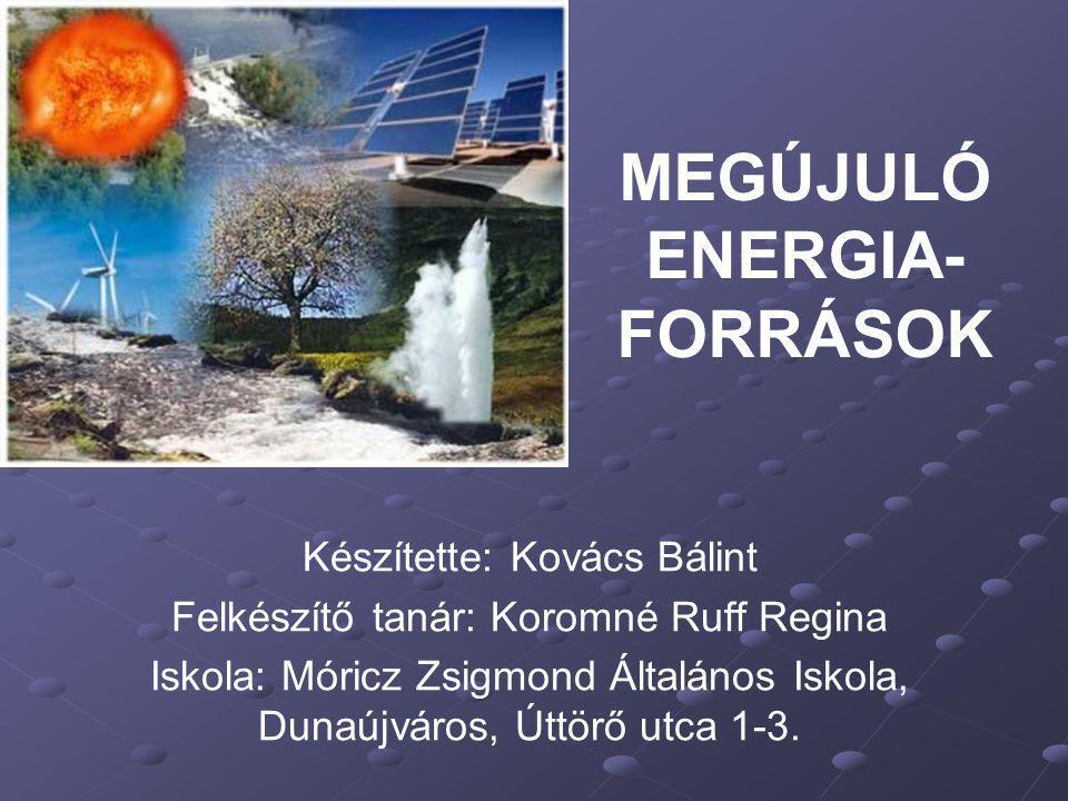 MEGÚJULÓ ENERGIA-FORRÁSOK