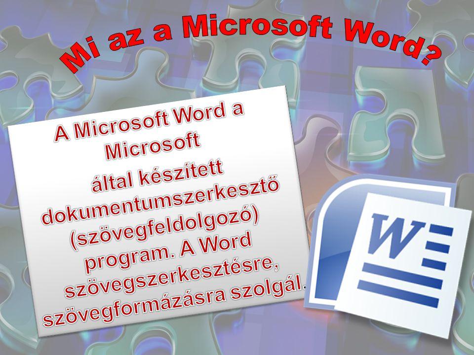 A Microsoft Word a Microsoft