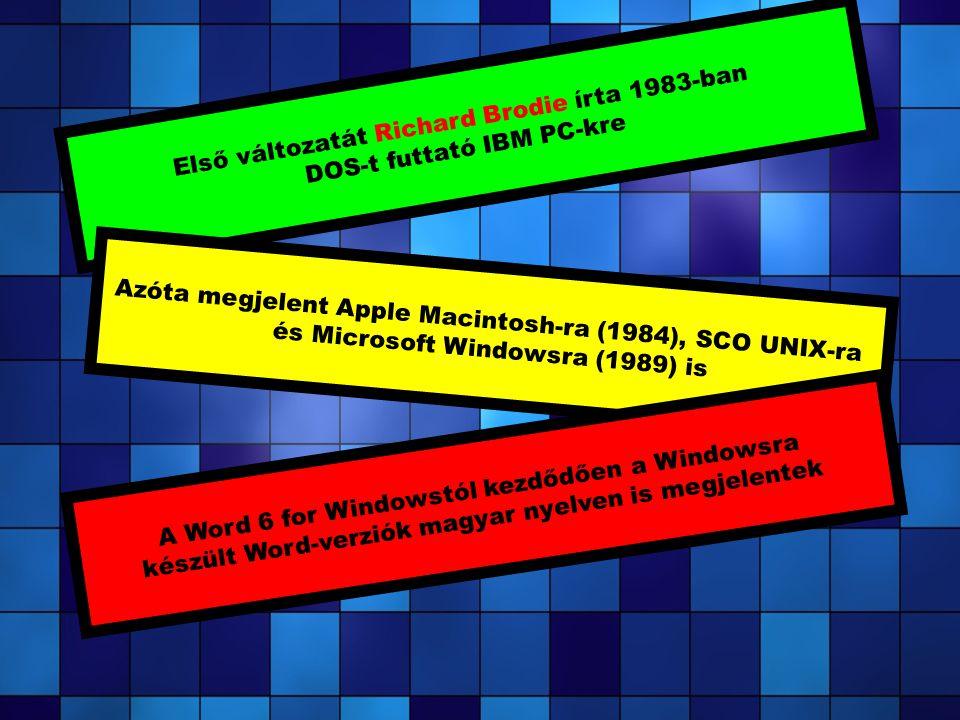 Első változatát Richard Brodie írta 1983-ban DOS-t futtató IBM PC-kre