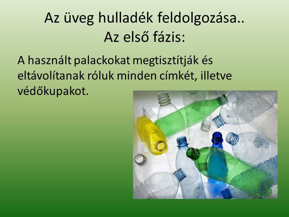 Az üveg hulladék feldolgozása.. Az első fázis: