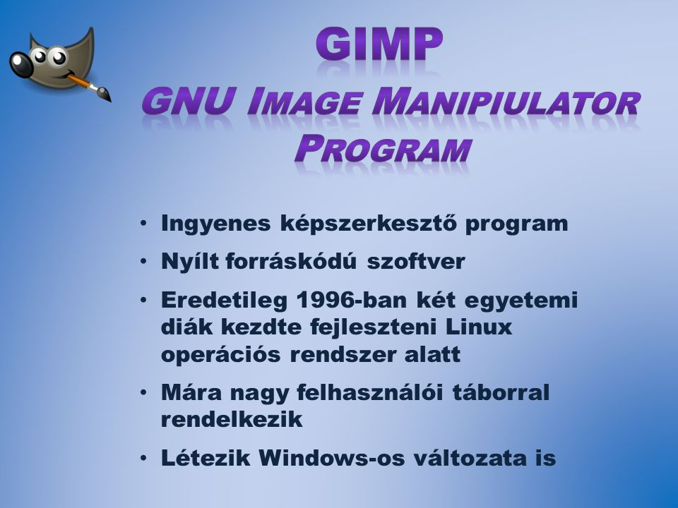 GNU Image Manipiulator Program