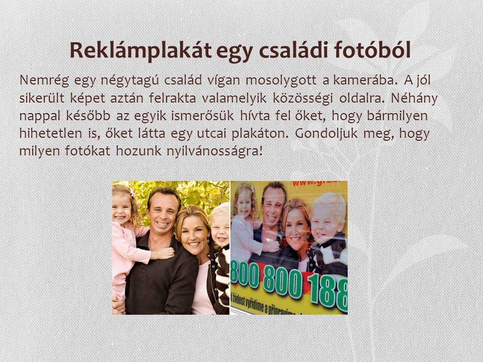 Reklámplakát egy családi fotóból