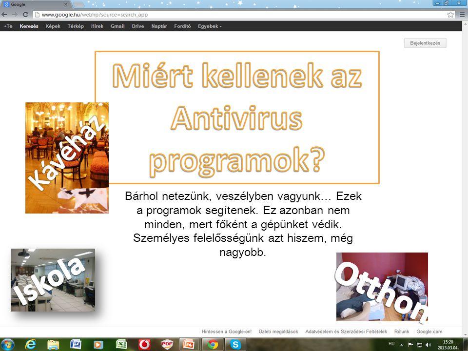 Miért kellenek az Antivirus programok